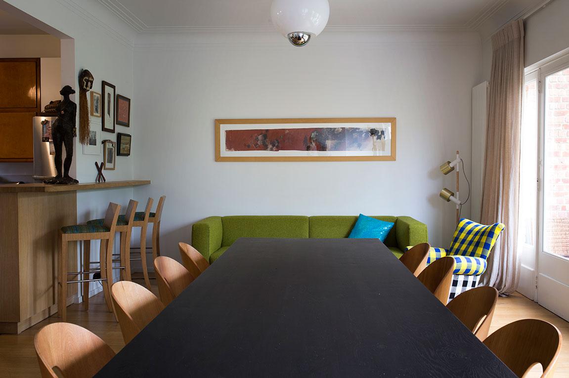 Salle à manger. Ambiance éclectique et vintage.
